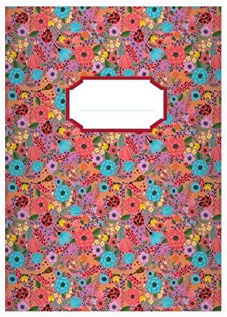 32 cahiers fleurs d'éte avec des coccinelles, rose, A5 A5 A5 (21x14,8), cahiers de maths linéatur 28 (carreaux avec bord des deux côtés) | Une Bonne Conservation De La Chaleur  19c49b