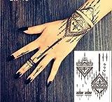 TATTOO SCHWARZ FAKE TATTOO EINMAL TATTOO HENNA DESIGN BLACK77 Schmuck Tattoo Orient Tattoo