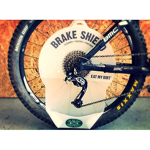 Brake Shield Bike cassette and chain cleaning brake disc protector Test