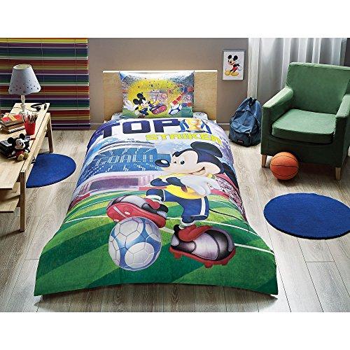 Mickey Mouse Ziel Betten 3PCS Bettbezug-Set New Lizenzprodukt 100% Baumwolle/Disney Mickey Mouse Ziel Twin Size Quilt Bettbezug Set (Twin Ziele)