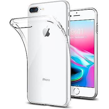 Spigen Cover iPhone 7 Plus, Cover iPhone 8 Plus, [Cover Silicone Gel] **Liquid Crystal** [Crystal Clear] Forma Morbido, Custodia iPhone 7 Plus, Custodia iPhone 8 Plus - 043CS20479