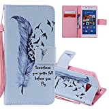 EMAXELERS Sony Xperia M2 Case Embossing Cute Anime Flower