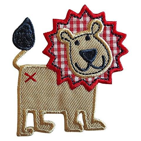 2 Ecussons patch appliques Lion 6X7Cm Abeille 9X8Cm thermocollant brode broderie pour vetement jeans veste enfant bebe femme avec dessin TrickyBoo Zurich Suisse pour France