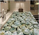 Weaeo 3D Wallpaper Custom 3D-Bodenbeläge Malen Tapete Zimmer Wandmalereien Kieselsteine Zu Wasser Bodenfliese Schlafzimmer Wand 3D Fototapete-200 X 140 Cm Zeichnen
