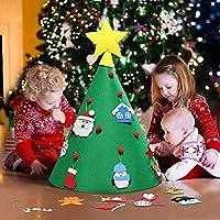 Fansport Árbol de Navidad DIY, niño Árbol de Navidad Redondo árbol de Navidad pequeño Niños