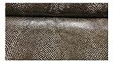 Fabrics-City SCHWARZ/BEIGE NYLON STOFF