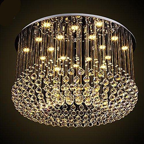 $Beleuchtung Moderne K9 Kristall Kronleuchter Deckenleuchte Kronleuchter Wohnzimmer Lounge Korridor Eingang Halle Eingang Romantische Hochzeit Gebäude Lampe Innenleuchten ( größe : 50*35cm ) (Hanf-gebäude)