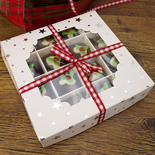 Economy White Window Sweet Box w...