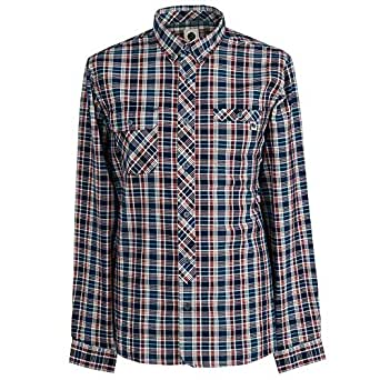 29e91dcd2d5 Pretty Green Mens Multi Coloured Check Shirt  Amazon.co.uk  Clothing