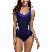 CharmLeaks Women Sports One Piece Swimming Costumes Racerback Swimsuits Swimwear