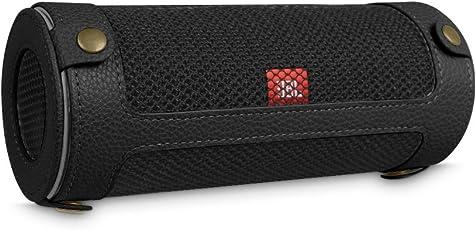 Fintie JBL Flip 4 Tragbare Lautsprecher Hülle Abdeckung - Hochwertiges Kunstleder Schutzhülle Tasche Case mit Karabinerhaken für JBL Flip4 Tragbare Lautsprecher, Schwarz