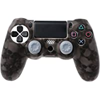 Siwetg - Custodia in silicone per gamepad, motivo con teschio, inclusi 2 copri levette in silicone per i controlli…