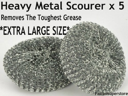 5-x-heavy-dutymetal-scourers-extra-large-free-uk-post-tough-grease-aliminiuim-scrubber-metal-scourin
