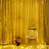 Yool LED String Light, Vorhang Fairy Kupferdraht Fernbedienung USB Fairy Light 300X300cm Weihnachtslicht Für Hochzeit Hausgarten Party Decor,White