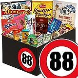 Geschenk zum 88. Geburtstag | Schokolade Geschenkbox | INKL DDR Kochbuch | mit Zetti Knusperflocken, Mokka Bohnen und mehr | Schokoladen Box