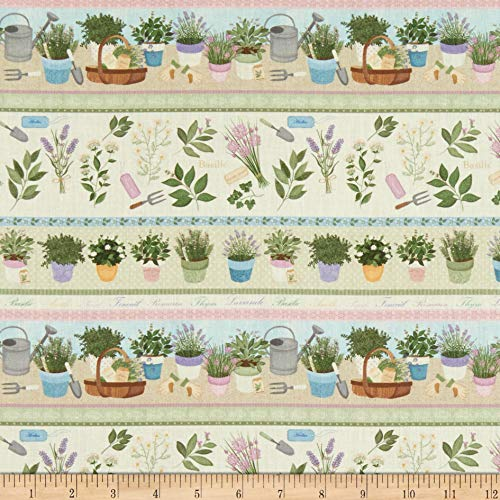 STOF France Digital Le Quilt Garden Multicolore 1 Fabric Stoff, Textil, by The Yard -