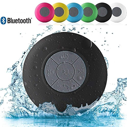 MGM ENTERPRISES Water Proof Bluetooth Shower Speaker with Mic for Bath, Pool, Car, Beach and Indoor/Outdoor Use