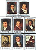 Prophila Collection Ajman 1336A-1343A (kompl.Ausg.) 1972 Ludwig Van Beethoven (Briefmarken für Sammler) Musik / Tanz