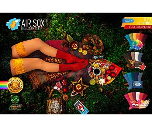 -new-7-5-gratis-deluxe-box-original-airsox-calzini-lunghi-uomo-calze-donna-cotone-100-organico-perch