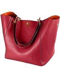 Taschen Damen Leder Schwarz 2019 SQLP Elegant Große Handtasche Europäische Stil Schultertaschen Umhängetasche Shopper Tasche Henkeltasche Beuteltasche Weich Damentasche