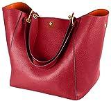 Taschen Damen Leder Rot 2017 SQLP Neu Elegant Große Handtasche Europäische stil Schultertaschen Umhängetasche Shopper Tasche Henkeltasche Beuteltasche Weich Damentasche