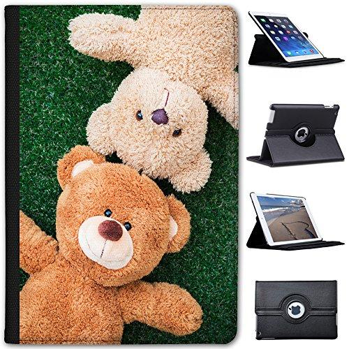 Fancy A Snuggle Teddybär-Freunde Spielen auf dem Gras Case Cover/Folio aus Kunstleder für Das Apple iPad Mini 1, 2, 3 und Retina