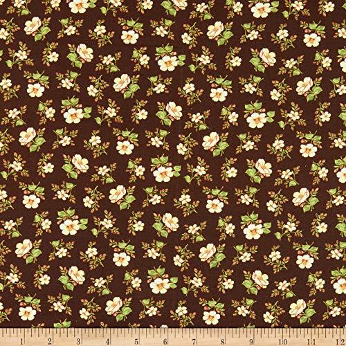 Emma Akzent (Benartex Prairie Homestead Emma Mahogany Fabric Stoff, Textil, Mahagoni, by The Yard)