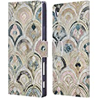 Official Micklyn Le Feuvre Art Deco Tiles In Soft Pastels Marble Patterns Leather Book Wallet Case Cover For Sony Xperia Z5 Premium / Dual