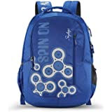 Skybags New Neon 32 litres Spacious Blue School Backpack