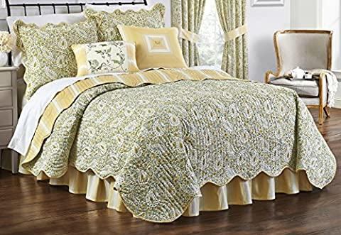 Paisley Quilt Collection Verveine–par Waverly, Coton, Spike and Buzz, Full/Queen