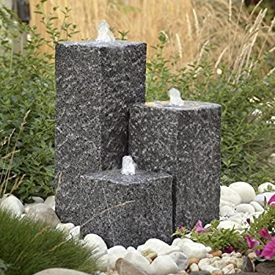 Savannah Granite Water Feature Kit with White LED Lights by Tidal