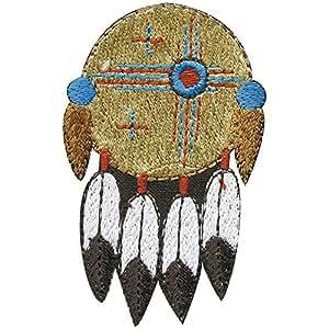 Écusson indien parure de plumes «neuf taille :  env. 5 cm x 7,5 cm (motif 03084 patchs stick motivstick)