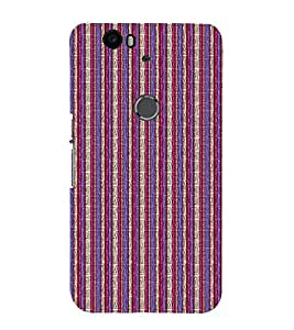 EPICCASE purple and pink straights Mobile Back Case Cover For Huawei Nexus 6P (Designer Case)