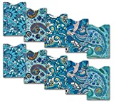 10 RFID Blocking Credit Card Sleeves for Identity Theft Protection, Paisley Pattern Credit