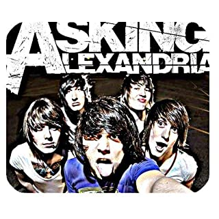 Asking Alexandria Custom Rectangle Rubber Mouse Pad Oblong Gaming Mousepad in 220mm*180mm*3mm