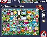 Schmidt Spiele Puzzle 58332 - Eulen-Collage II, 1.000 Teile Puzzle