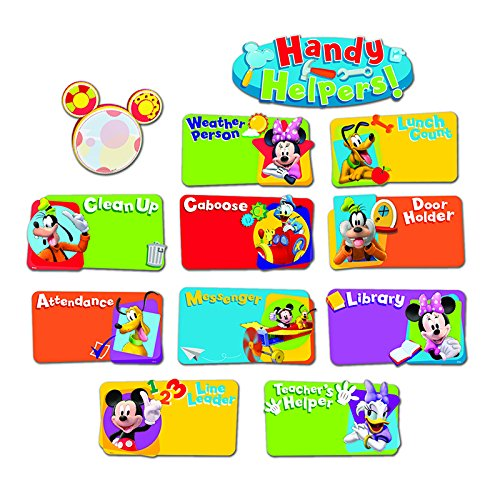 Eureka Mickey Mouse Clubhouse Handy Helpers Job Chart Mini Bulletin Board Set - Job-chart