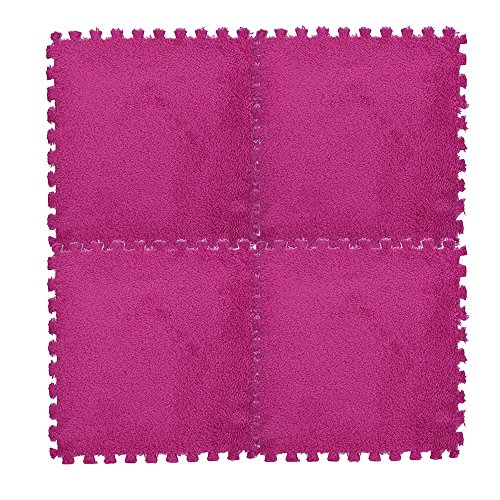 Beisoug Migliore Decorazione di San Valentino 25X25cm Tappetino per Bambini Tappetino in Schiuma Eva Shaggy Velvet Baby Eco Pavimento 7 Colori
