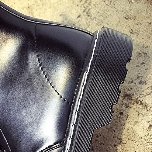Stivaletti stringati Slittamento a testa tonda Scarpe casual da donna , 42 , black 36