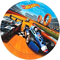 American Greetings Hot Wheels Round Plate (8 Count), 9""