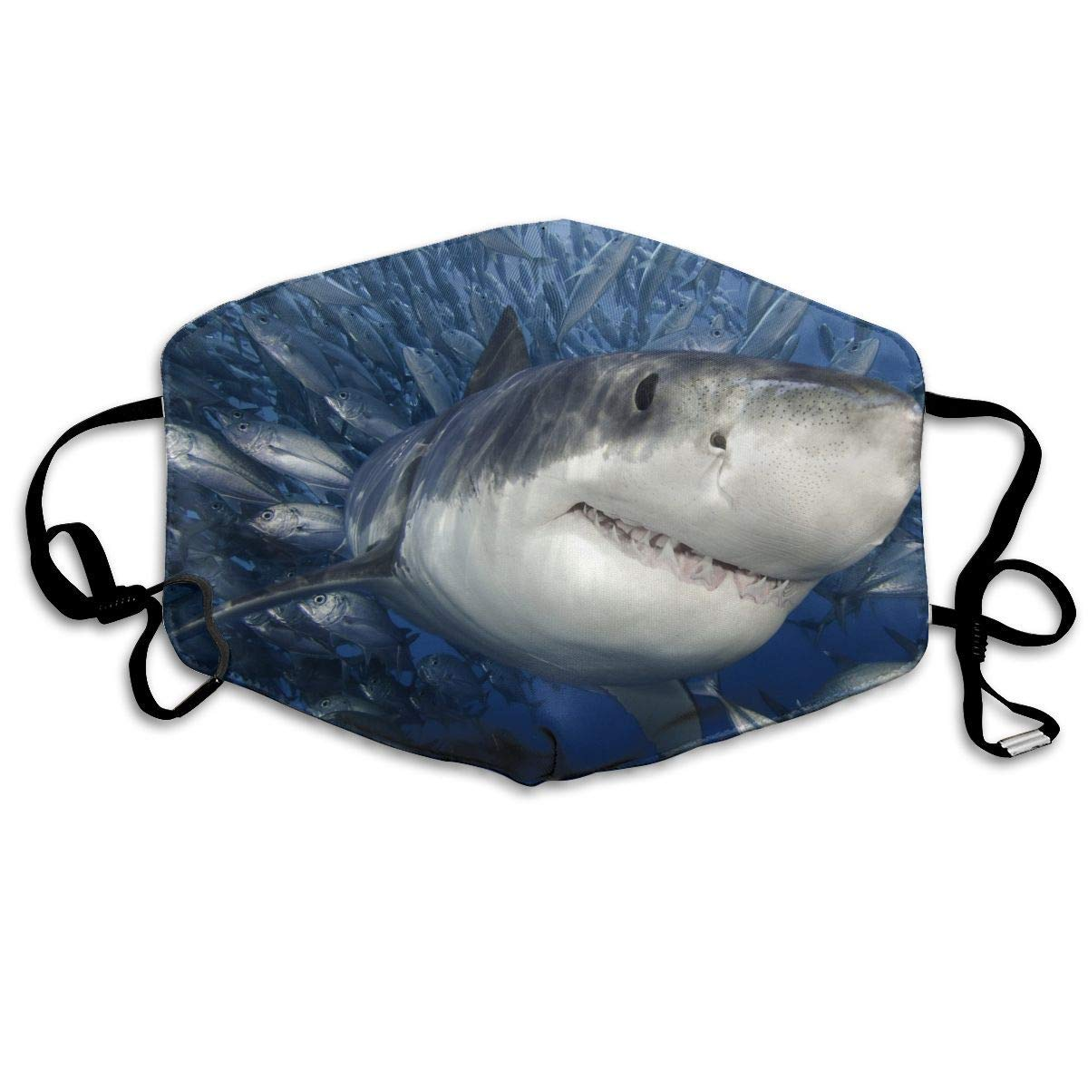 Daawqee Máscara de Boca, Cute Shark Diving Unisex Fashion Mascarilla Washable Safety 100% Polyester Comfortable Breathable Health Half Face Masks