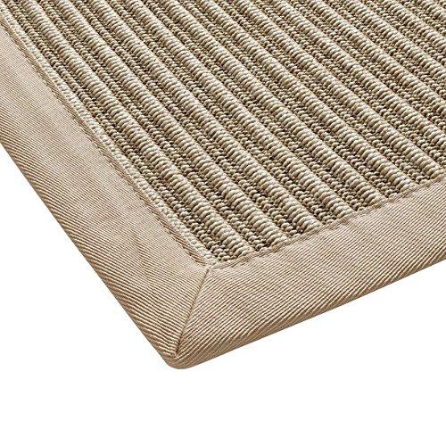 BODENMEISTER Sisal-Optik In- und Outdoor-Teppich Flachgewebe modern hochwertige Bordüre, verschiedene Farben und Größen, Variante: beige natur, 60x110