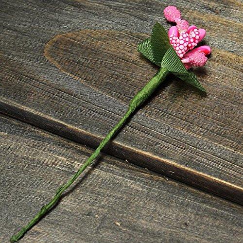 Bluelover Micro paisaje decoraciones paño flor arte jardín decoración BRICOLAJE-rosa