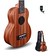 "Kadence Wanderer Series Brown Mahogany wood Ukulele with Bag and Tuner (Wanderer 21"", Acoustic)"