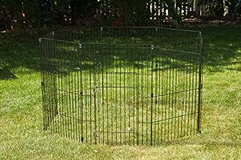 Iris Ohyama, parc pour chien / cage d'extérieur /  enclos / chenil - Wire Pet Circle - 36 pouces, epoxy, noir, 1,5m², 60 x 91 cm
