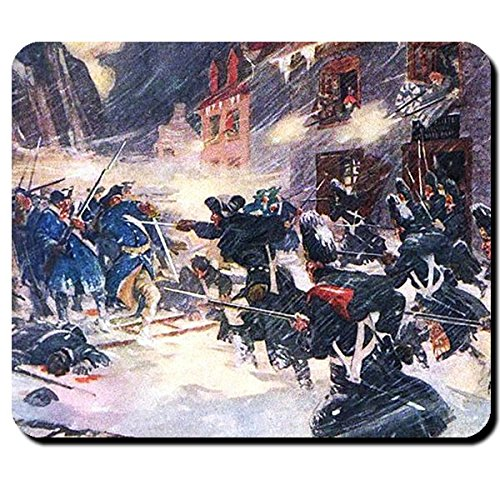 Schlacht in Quebec Kanadische Milizen und Briten Siegen über Amerikaner Gemälde Amerikanischer Unabhängigkeitskrieg 1775 - Mauspad Mousepad Computer Laptop PC #16200