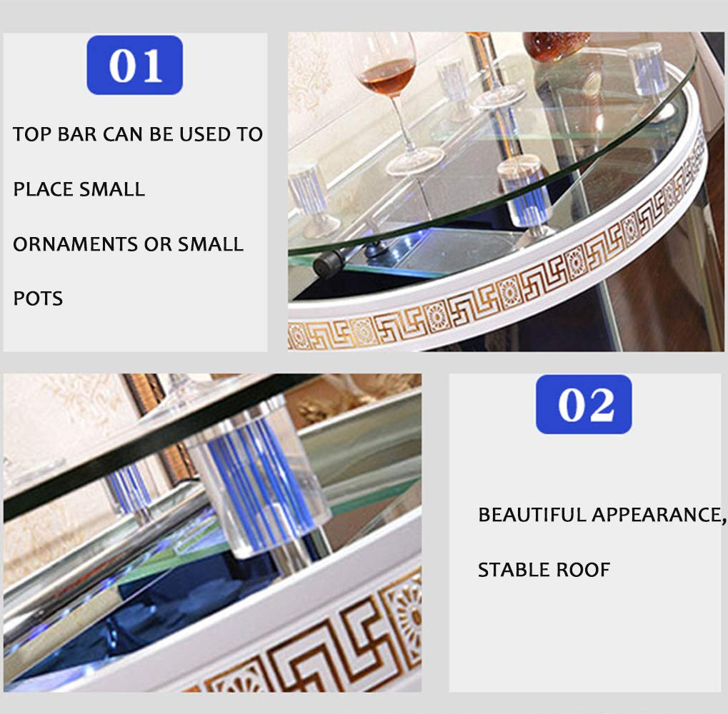 SanQing Semi-circular Fish Tank, Medium And Large Glass Aquarium Against The Wall, Creative Ecological Water-free Home Floor Bath