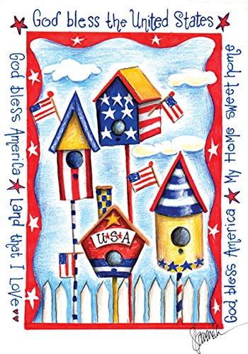 Toland Home Garden usa Birdhouse Garden Flag