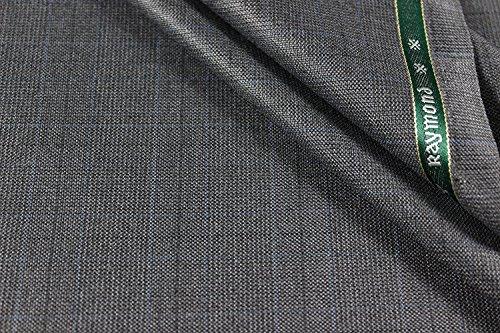 Raymond Men's 1.25 m Unstitched Checkered Pant Piece (Grey, Free Size)
