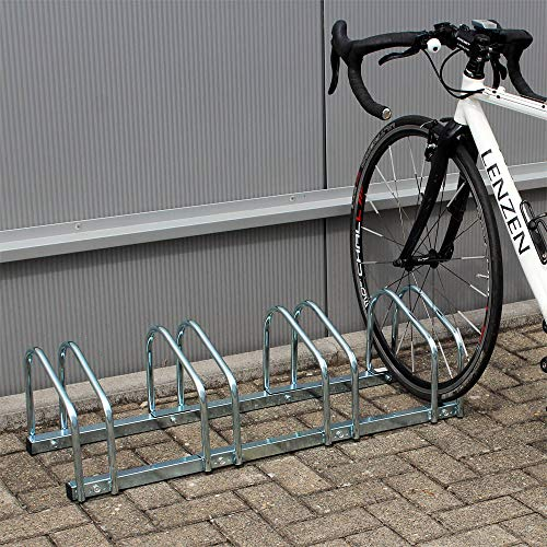 WilTec Rastrelliera per 4 Biciclette Portabici a 4 posti Metallo zincato 95x33x27cm